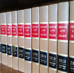 law book spines
