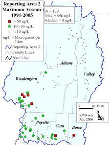 Reporting Area 2: Maximum Arsenic 1991-2005