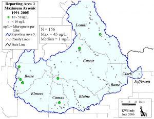 Reporting Area 3: Maximum Arsenic 1991-2005