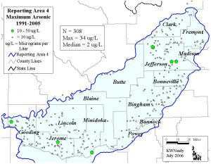Reporting Area 4: Maximum Arsenic 1991-2005