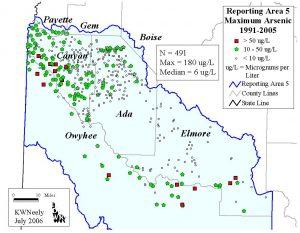 Reporting Area 5: Maximum Arsenic 1991-2005