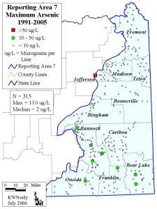 Reporting Area 7: Maximum Arsenic 1991-2005