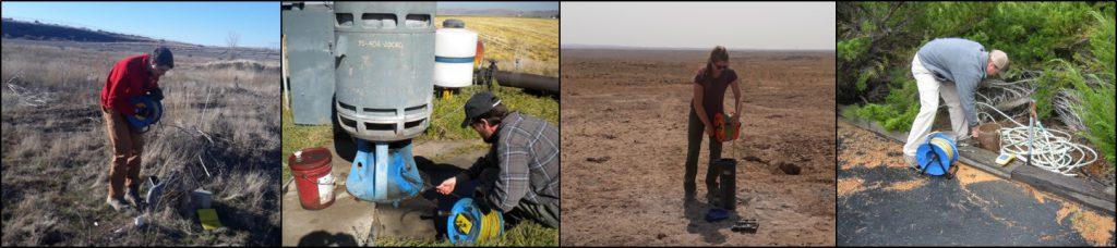 IDWR staff take measurements at wells